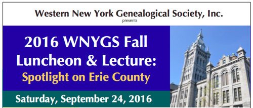 WNYGS Fall Lunch Lecture