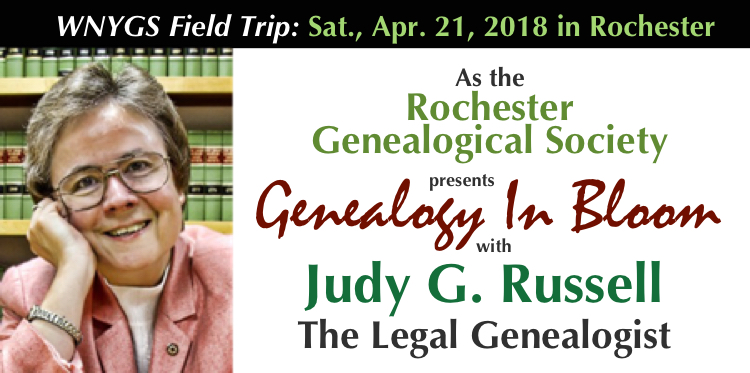 WNYGS RGS Judy Russell Promo